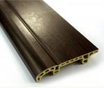 Black Wood PVC MDF Flexible Skirting