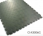 Workshop Flooring Diamond Pattern Interlocking PVC Tile