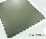 Garage Flooring Coin Pattern Interlocking PVC Tile