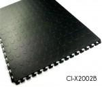 Industrial Coin Pattern Interlocking PVC Flooring