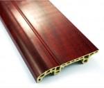 Claret-red Wood Plastic Floor Skirting