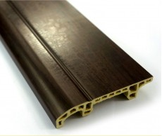 Schwarz Holz PVC MDF Flexible Skirting