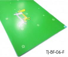 Grüne Karikatur-Kind-Vinylbeläge Blätter im Kindergarten Gebraucht