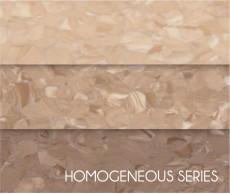 Wear-resistance Hospital Non-Directional Homogeneous Vinyl Flooring