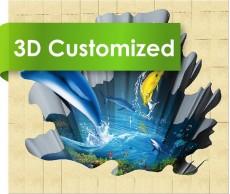 Bathroom Sea World Picture 3D Sheet Floor