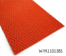 Diamond Pattern Woven Bamboo Floor With Red Vinyl Yarn