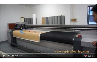 Smart-Digitaldrucker für das kundenspezifische Muster Vinylbodenbelag Blatt