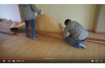 How to install PVC vinyl sheet flooring?