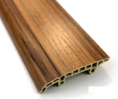Symmetrical Design Wood Surface PVC Skirting