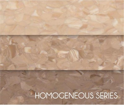 Wear-resistance Hospital Non-Directional Homogeneous Vinyl Flooring