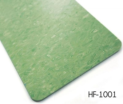 With thicker wear layer homogeneous look vinyl flooring