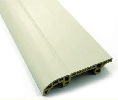 White Wood Flooring Plastic Skirting Board