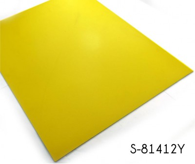 Classic Lemon Yellow Solid Color Vinyl Floor Tile