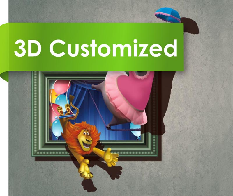 Cheap 3D Look Roll Plastic Flooring