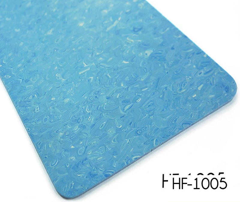 Customized homogeneous look pvc flooring sheet