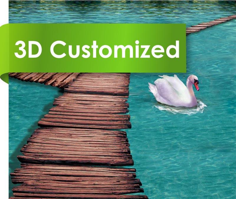 Eco Friendly Solid Color PVC Material 3D Vinyl Floor