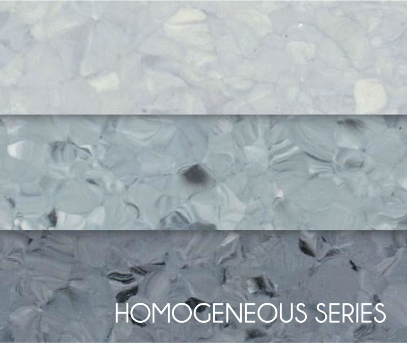 Light Gray Non-Directional Factory Homogeneous Vinyl Flooring