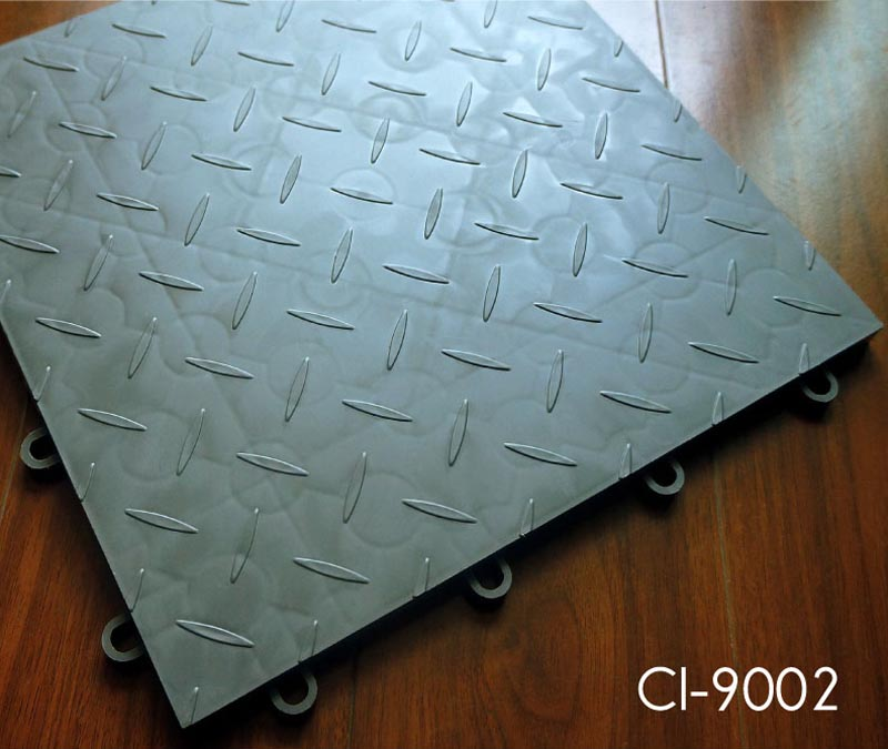 Plastic Interlocking Garage Flooring Tile Topjoyflooring