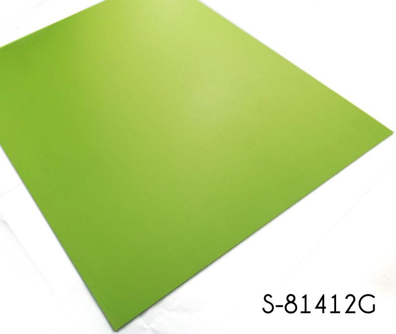 Vibrant Apple Green Solid Color Vinyl Tile