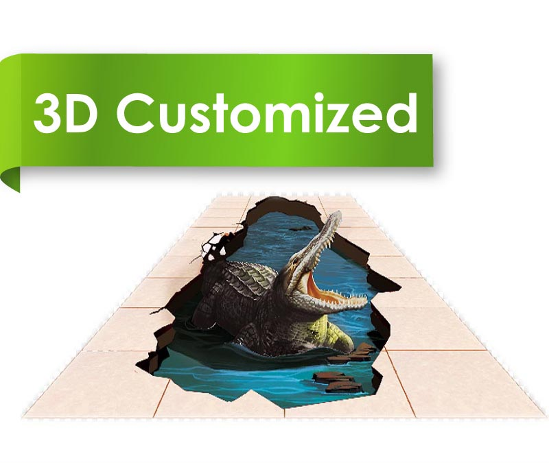 Waterproof Durable PVC Flooring with Customized 3D Design