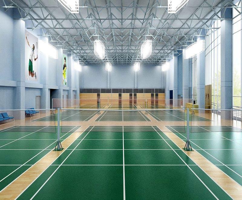 Litchi Pattern Indoor Badminton Court Sport Vinyl Flooring