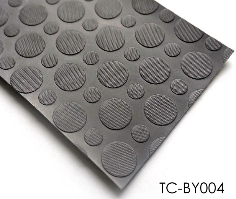 Dots Coins Embossed Pattern Vinyl Flooring Roll For