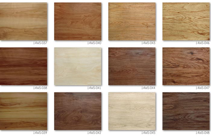 Interlocking Click Plank Vintage Wood Grain Vinyl Flooring