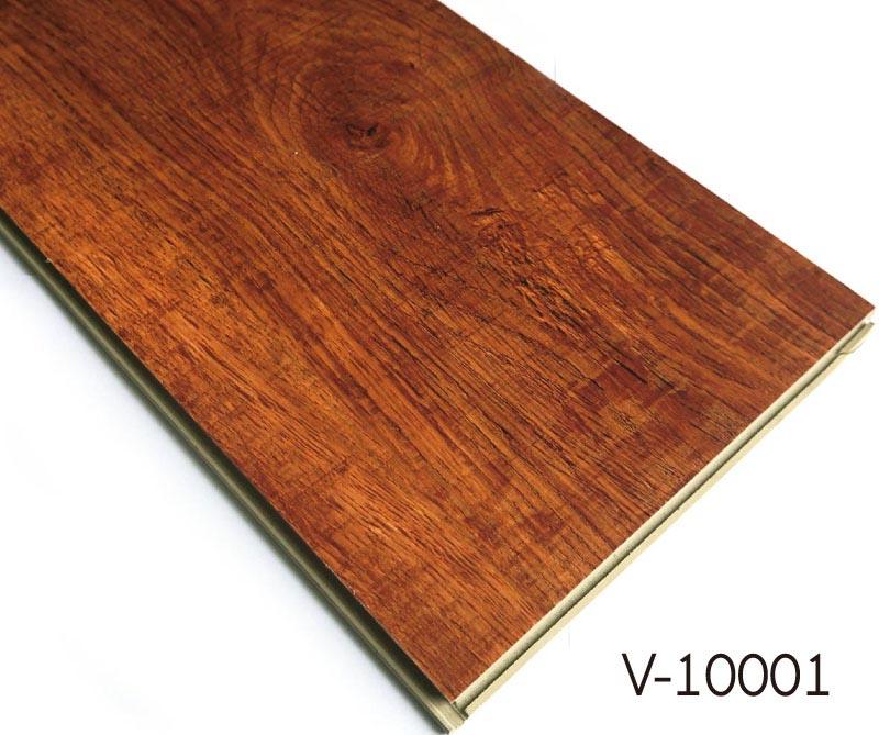 Plastic Click Flooring: Wood Pattern WPC Click Vinyl Flooring Tiles