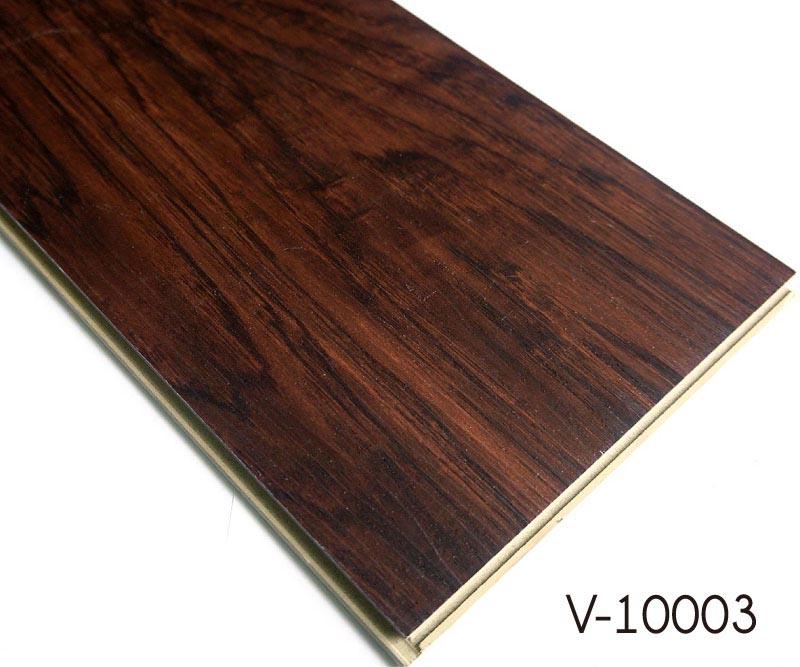 Plastic wood pattern floors wpc luxury vinyl plank for Plastic hardwood flooring
