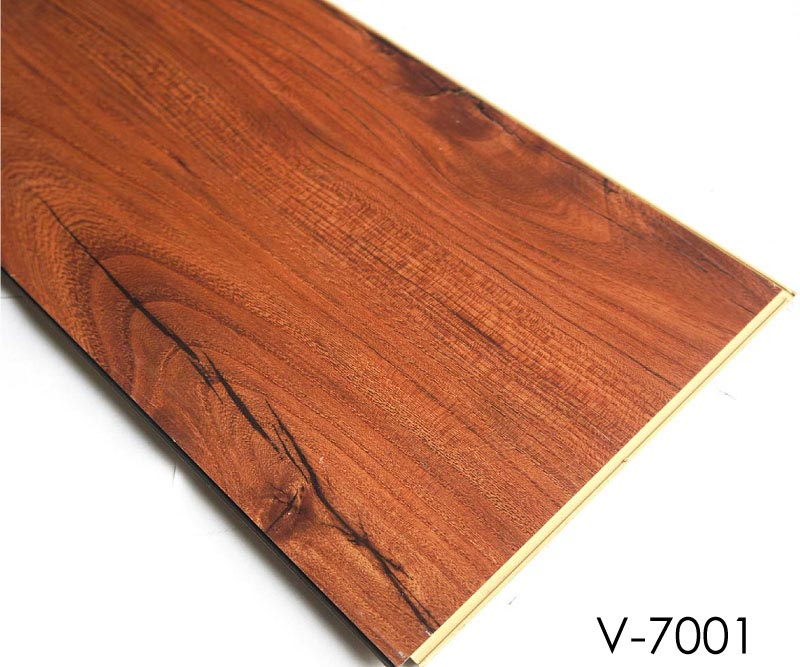 Plastic floor covering wood pattern wpc vinyl plank for Vinyl floor covering