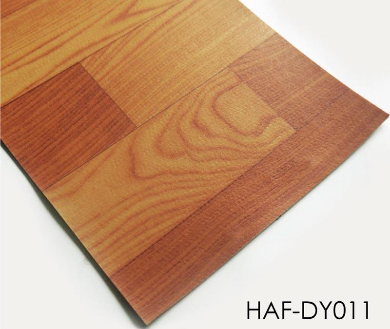 Plastic Flooring 2m Wide Brown Wood Sheet Vinyl Floor Roll