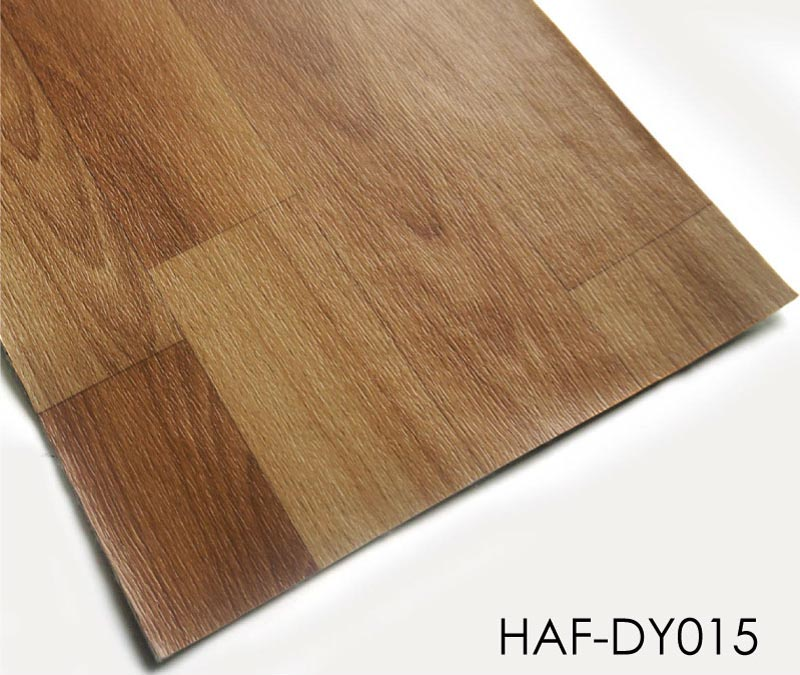 Plastic Flooring 2m Wide Brown Wood Sheet Vinyl Floor Roll - TopJoyFlooring