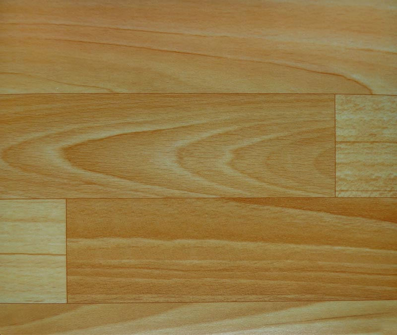Polyurethane Surface Wood Pattern Vinyl Sheet Flooring