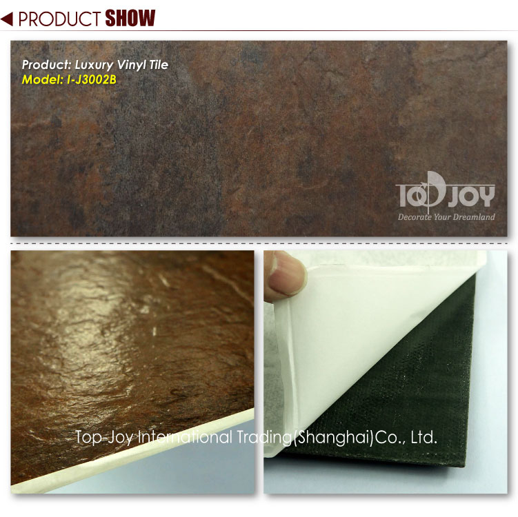 Large self adhesive vinyl floor tiles