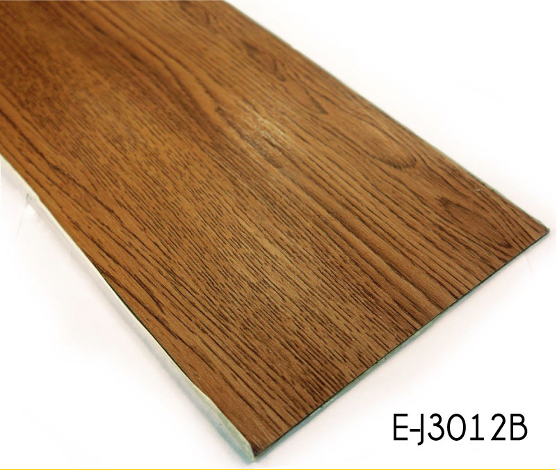 Adhesive Wooden Tile PVC Fireproof Flooring
