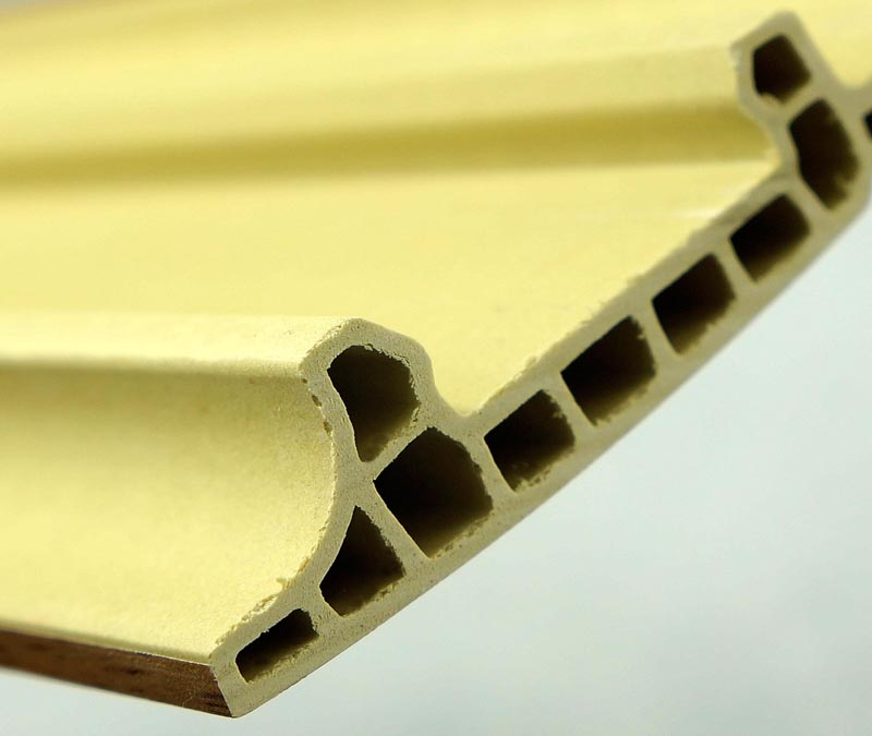 Symmetrical Design Wood Surface PVC Skirting