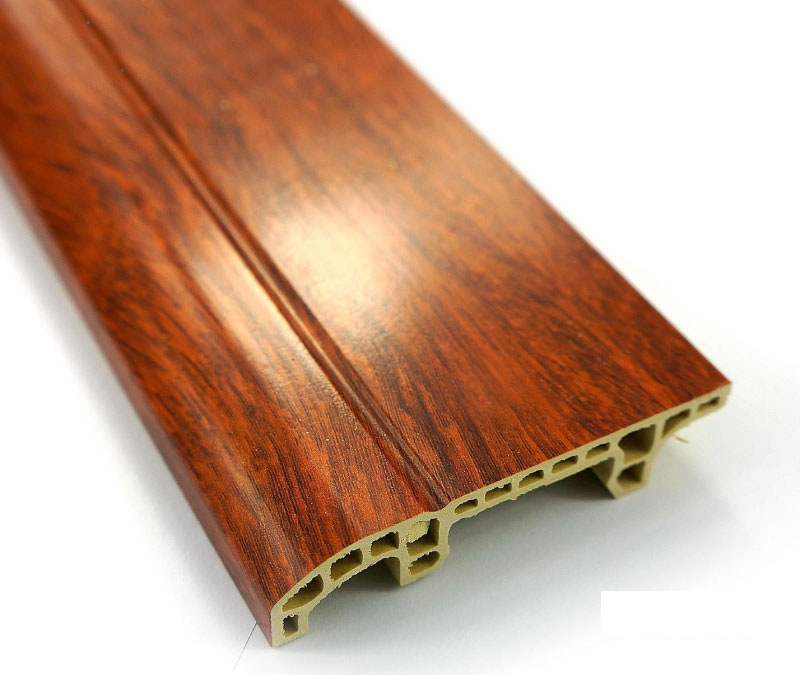 Claret-red Wood Plastic Floor Skirting