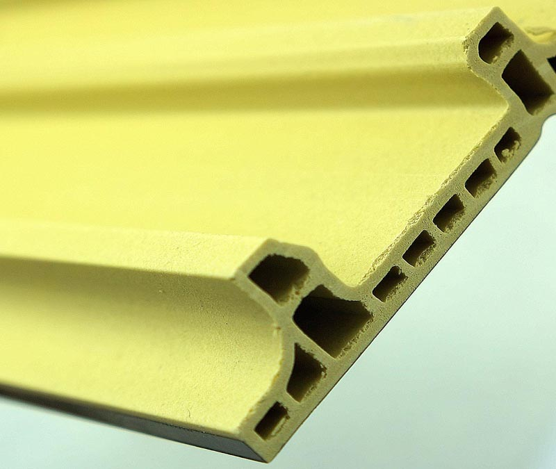 Black Wood PVC MDF Flexible Skirting