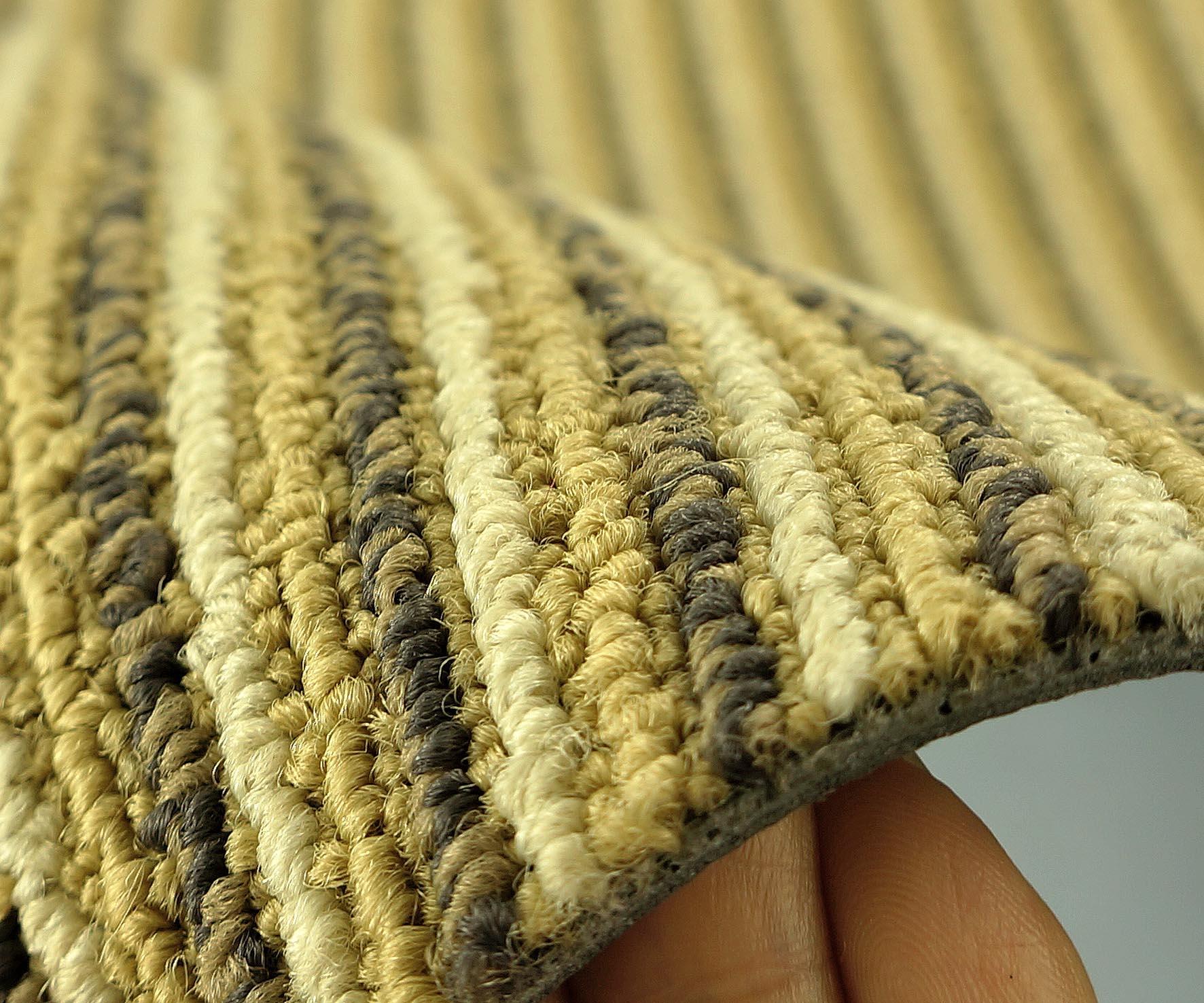 Striped carpet tiles carpet vidalondon for Black and white patterned carpet