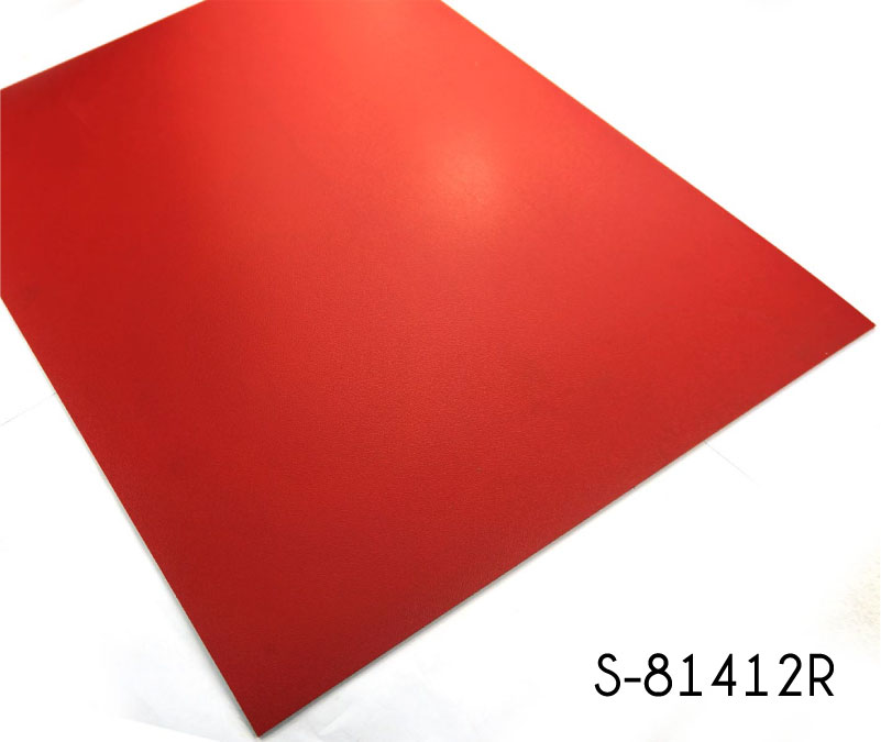 Rich Fire Engine Red Solid Color Vinyl Tile Flooring Topjoyflooring