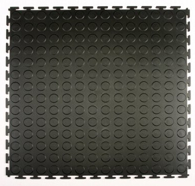 garage flooring coin pattern verriegelung pvc fliese topjoyflooring. Black Bedroom Furniture Sets. Home Design Ideas