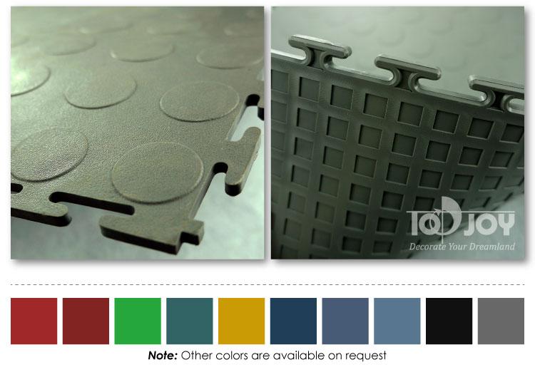 Garage pavimentazione coin modello di collegamento pvc tile topjoyflooring - Piastrelle pvc ad incastro ...
