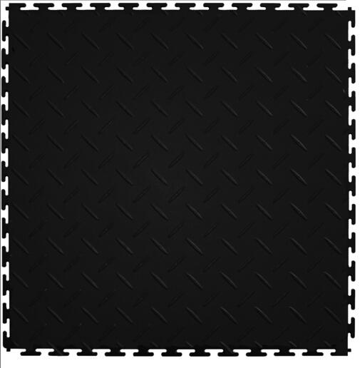 Workshop Flooring Diamond Pattern Interlocking PVC Tile