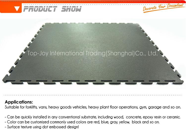 산업 바닥 부드러운 패턴 연동 PVC 바닥재 - TopJoyFlooring