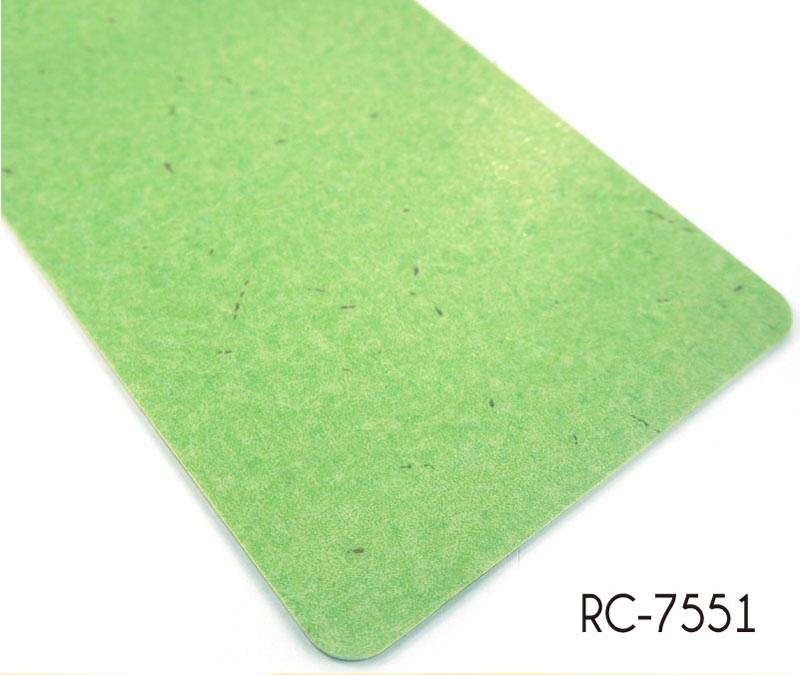 Commercial PVC floorboard green marble pattern Vinyl flooring
