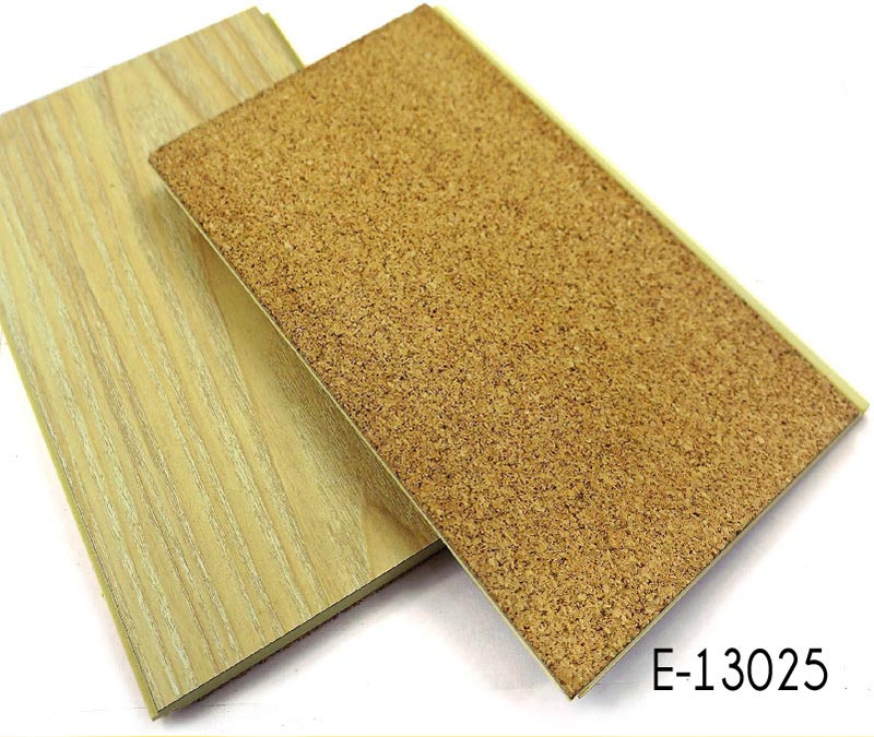 Fire Resistant Sound Absorbing HPL WPC Flooring With Cork Backing