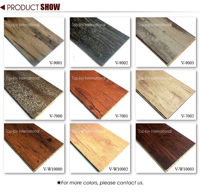 Wood Grain Wpc Vinyl Click Waterproof Flooring Tiles Topjoyflooring